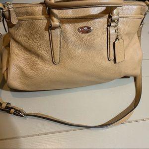 Coach brown crossbody bag 14 x 10